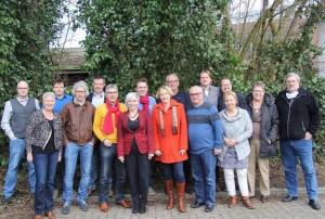 Sijmen Scholten, Wim Kruis en Henri van Beek aanwezig tijdens cursus voor beginnende raadsleden in Hasselt.