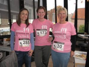 Jennifer Zoombelt (PvdA), Heleen Mulder (CDA) en Anneke Brandsma (ABO)